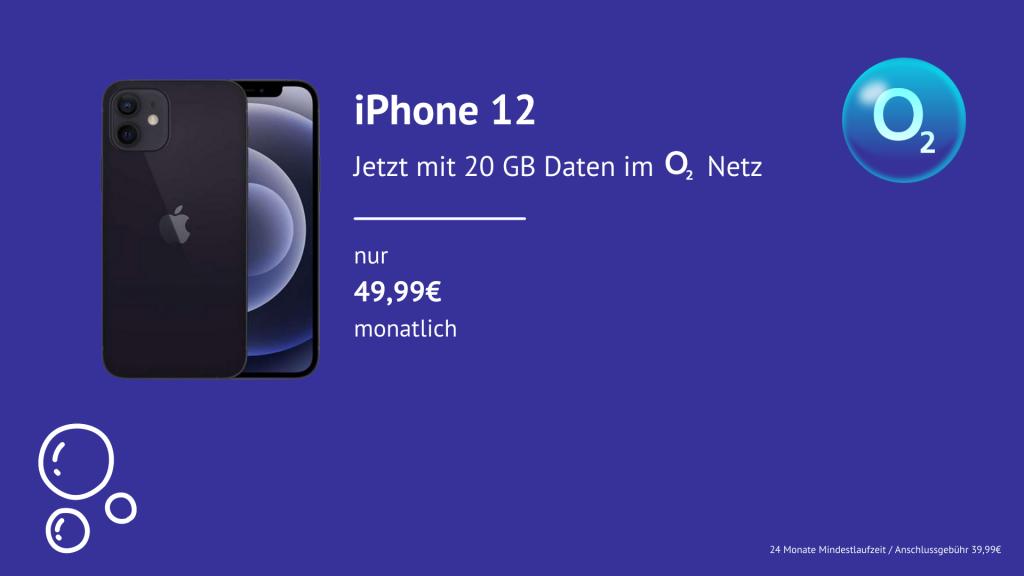 Angebot O2 mit iPhone 12